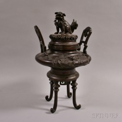 Bronze Koro Covered Censer