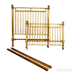 Turned Brass Bed