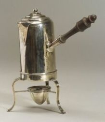 George III Silver Chocolate Pot on Stand
