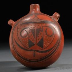 Hopi Painted Pottery Canteen