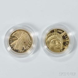 Two U.S. Five Dollar Gold Coins