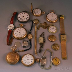 Collection of Assorted Wrist and Pocket Watches