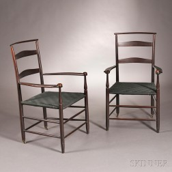 """Pair of """"No. 7"""" Shaker Armchairs"""