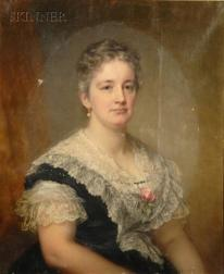 George Augustus Baker, Jr. (American, 1821-1880) Portrait of a Lady Purported to be Mary Dumesnil McIlvain...