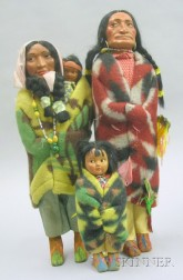 Group of Skookum and Dolls