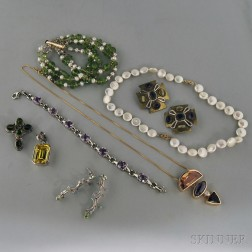 Group of Silver and Gemstone Jewelry