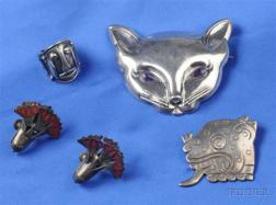 Group of Three Silver Jewelry Items, Mexico