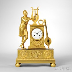Gilt-brass Figural Mantel Clock