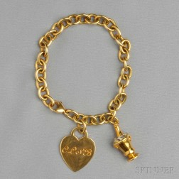 Two 18kt Gold Charms, Tiffany & Co.