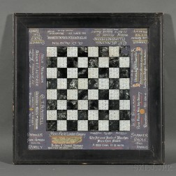 Reverse-painted and Silvered Advertising Game Board