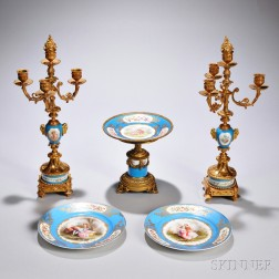 Five Sevres Porcelain Table Articles