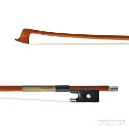 French Silver-mounted Violin Bow, J. Thibouville-Lamy