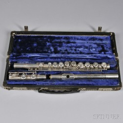 American Silver Flute, W.R. Meinell, New York