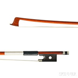 French Silver Nickel-mounted Violin Bow, School of Ouchard