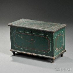 Miniature Paint-decorated Pine Blanket Chest