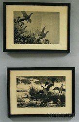 Aiden Lassell Ripley (American, 1896-1969)      Two Images of Fowl: Geese