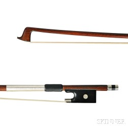 French Silver-mounted Violin Bow, Atelier of P. Colas