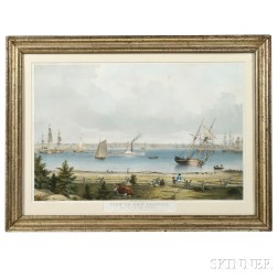 A. Conant, Publisher, After Fitz Henry Lane (Massachusetts, 1804-1865)       View of New Bedford. From the Fort Near Fairhaven
