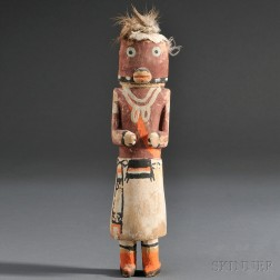 Hopi Polychrome Carved Wood Kachina