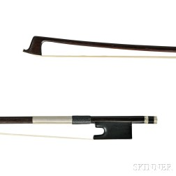Nickel Silver-mounted Violin Bow, School of Maire-Peccatte