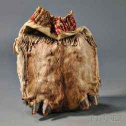 Blackfoot Elk Skin Work Bag