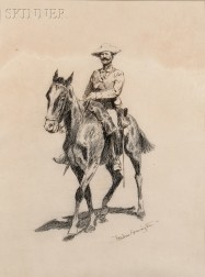 Frederic Remington (American, 1861-1909)      Regular Cavalryman-Spanish