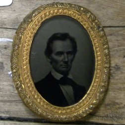Abraham Lincoln Ambrotype Campaign Badge