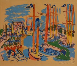 After Raoul Dufy (French, 1877-1953)      Untitled Harbor Scene
