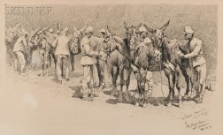 Frederic Remington (American, 1861-1909)      Stable Call at an Artillery Barrack