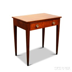 Federal Cherry One-drawer Worktable