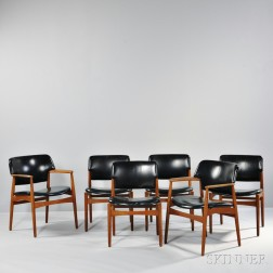 Six Early Danish Dining Chairs