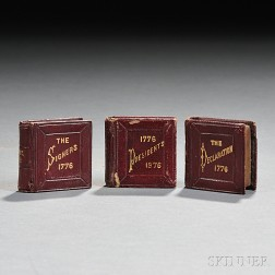 Three Miniature Books, The Presidents of the Century; The Declaration of Independence; [and] The Signers of the Declaration