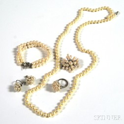 Group of Cultured Pearl Jewelry