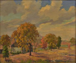 Jacob Greenleaf (American, 1887-1968)      Autumn Landscape