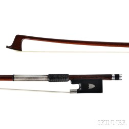 German Silver-mounted Violin Bow, Vuillaume à Paris, c. 1900