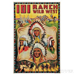 Framed 101 Ranch Wild West Poster