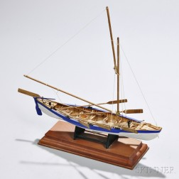 """Small Carved and Painted Model of a """"New Bedford Whale Boat,"""""""