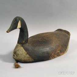 Painted and Carved Canada Goose Decoy