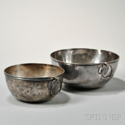 Two French .950 Silver Bowls