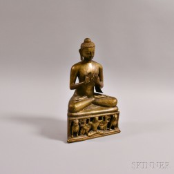 Seated Metal Sculpture of Buddha