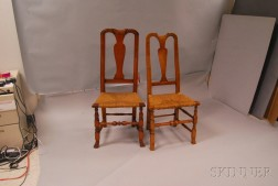 Two Country Queen Anne Side Chairs