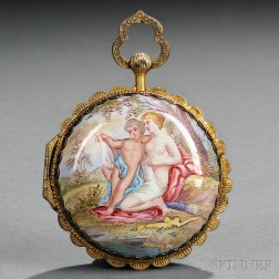 Austrian Enamel and Gilded Silver Case