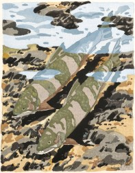 Neil Welliver (American, 1929-2005)      Two Trout