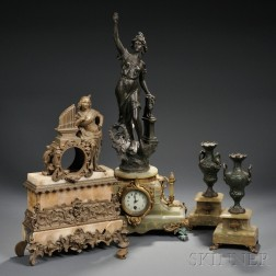 Two French Figural Clock Cases