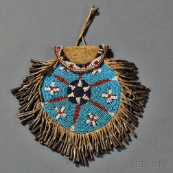 Apache Beaded Hide and Leather Strike-a-Light Pouch