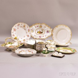 Approximately Twenty-three Pieces of Continental Porcelain.     Estimate $150-250