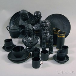 Twenty-two Wedgwood Black Basalt Items