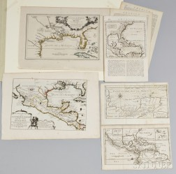 Five Maps Showing the Gulf of Mexico