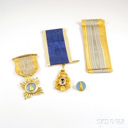 Three Gold Society of Colonial Dames Medals