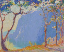 Margaret Jordan Patterson (American, 1867-1950)      Landscape with Trees and Mountain